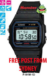 AUSSIE-SELER-VINTAGE-RETRO-CASIO-WATCHES-F-91W-1-F91-F91W-F-91-12-MONTH-WARANTY
