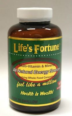 Lifes Fortune Multi Vitamin Mineral Natural Energy 180 Free Fast 1St Class Ship