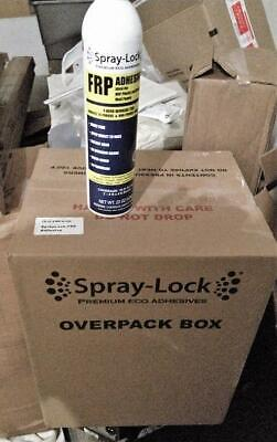 Spray-lock Frp Premium Eco Adhesive Glue Spray Case Of 6 New