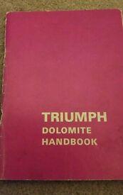 Triumph dolomite handbook edition 8