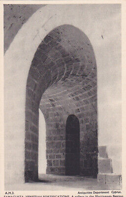 CYPRUS POSTCARD FAMAGUSTA VENETIAN FORTIFICATIONS THE MARTINENGO BASTION 1940 s