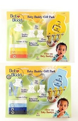 Baby Buddy Baby Shower Gift Set - Clothes Organizers, Bib Clip, Pacifier Holder