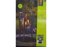 Black New York Log Burner Outdoor Fire pits Easy assembly