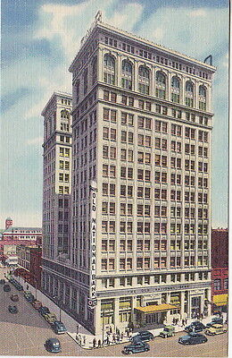 The Old National Bank  Spokane  Wa Linen  Postcard