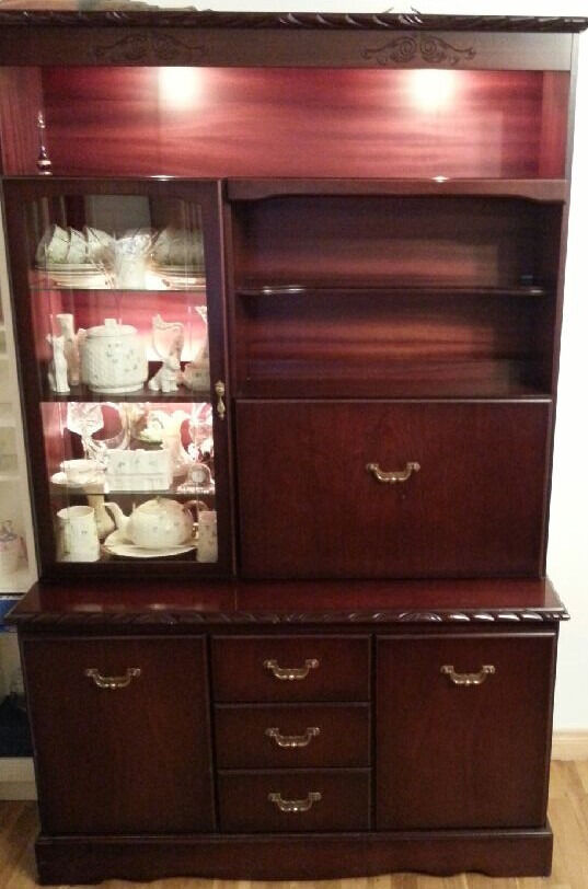 Living Room Cabinet and Drinks Unitin Newry, County DownGumtree - Living Room Cabinet and Drink Cabinet Illuminated Mahogony Living Room Unit Lovely Condition !
