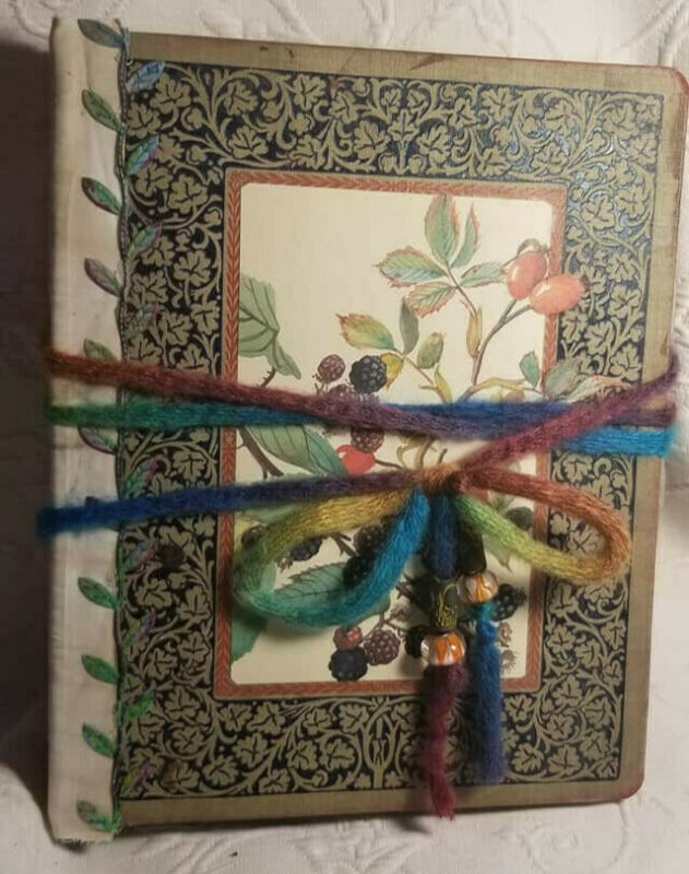 OOAK Botanical Junk Journal Hand As seen on my youtube