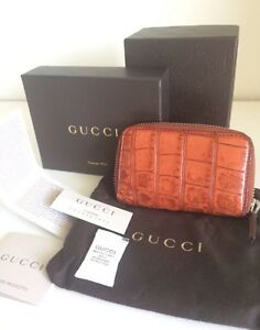 LIKE NEW RRP$755 AUTH GUCCI CROCODILE LEATHER ZIPPY CARD COIN PURSE Varsity Lakes Gold Coast South Preview