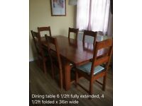Set of six good quality chairs