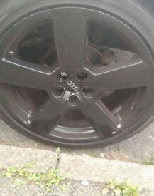 "Audi alloys 18"" nearly new tyre £200 ONO"