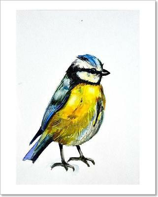 Watercolor Drawing Of Cute Bird Art Print Home Decor Wall Art Poster - G ()