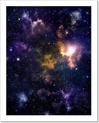 Deep Outer Space Background  Art Print Home Decor Wall Art Poster - C - Outer Space Decor