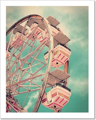 Vintage Ferris Wheel Art Print Home Decor Wall Art Poster - C ()