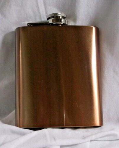 Copper Colored Stainless Steel Hip Flask – 7 OZ.