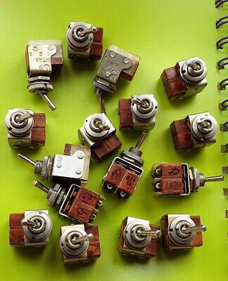 4x Mini Toggle Switch Dpdt On-on Silver Bakelite Ussr Mtd-3 Nos Lot Of4 Pcs