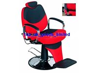 New Red & Black reclining salon barber chair for hair cutting BX-1045B uk new