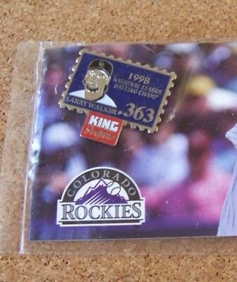 1999 Colorado Rockies Larry Walker National League Mvp Pin  2 King Soopers