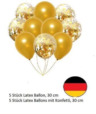 tex Ballon Set Helium Hochzeit Geburtstag Party Konfetti (Luftballons Gold)