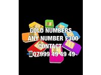 GOLD VIP MOBILE NUMBERS £300