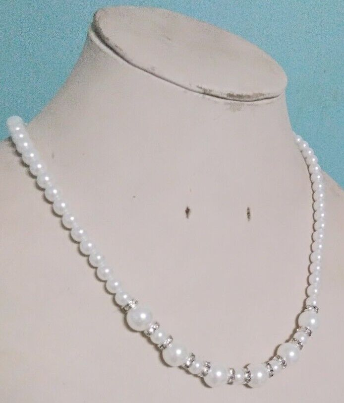 """Genuine AAA 10mm White South Sea AKOYA SHELL PEARL NECKLACE 18/"""""""
