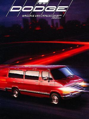 1991 Dodge Ram Wagon Van Deluxe Sales Brochure Dodge Ram Van Wagon