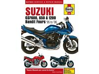 Haynes SUZUKI 600,650,1200,BANDIT,GSF600 S,GSF650 S,GSF1200 S, MANUAL 1995-2006