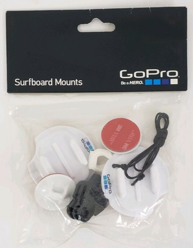 GoPro Surfboard Camera Mount, White, ASURF-001, New