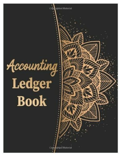 Checkbook Account Ledger Large Book Journal Record Home Office Mandala Cover