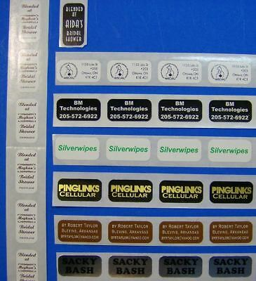 10000 Printed Labels .75 X 2 Custom Business Rectangle Stickers 1-color Ink