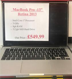 """MacBook Pro 13"""" Retina - i7 - 8gb - 512gb SSD - Receipt & Warranty"""