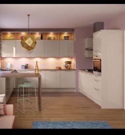Glossy white kitchen