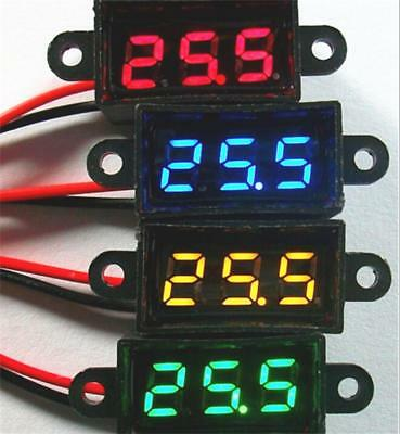 New 0.28 Inch Miniature Voltmeter 3.50-30.0v Two Wire Digital Voltage Waterproof