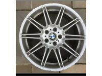 "19"" Genuine Bmw Mv4 Rear Wheel 9J Staggered . Condition is Used."