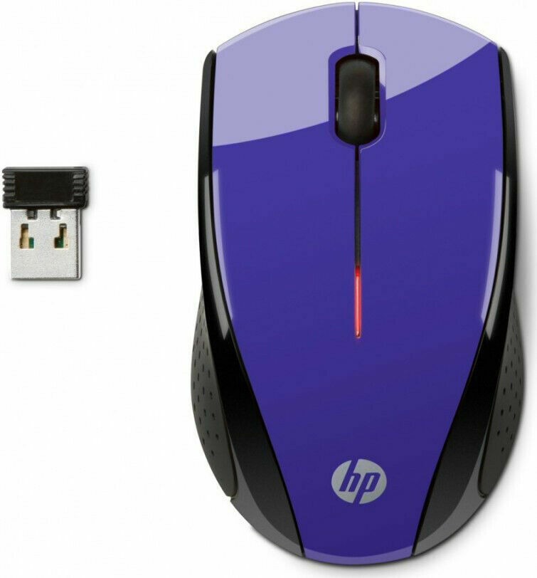 HP X3000 Purple Wireless Mouse - Optical - Wireless - Purple