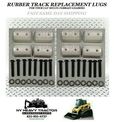 247 247b 257 257b Rubber Track Lug Set Of 8 3258624 Caterpillar Cat Rc50 Rc60