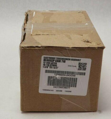 NEW Schlage BE469ZP CAM 716 Electronic Touchscreen Deadbolt - Aged Bronze
