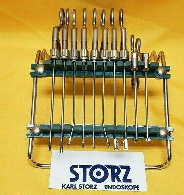 Karl Storz Arthoscope Arthroscopy Instruments Set Of 10 With Stand.