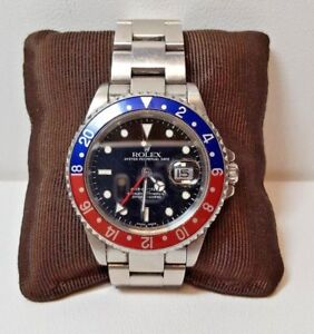 Rolex Pepsi GMT Master II Stainless Steel Gents Watch 16710 2002 (6225)