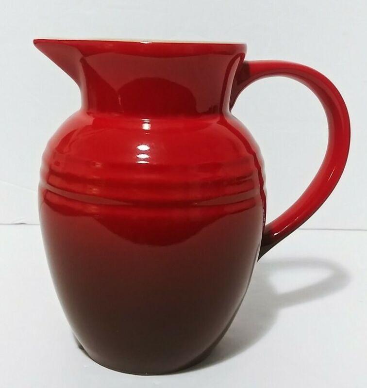 "Le Creuset 5.5"" Cerise Cherry Red Jug.  $22 🗣 OBO❗"