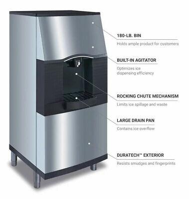 New Manitowoc Spa-310 Ice Bin Dispenser Machine 180 Lb Storage Bucket Fill Hotel