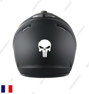 sticker autocollant casque moto scooter tete de mort crane punisher squelette ebay. Black Bedroom Furniture Sets. Home Design Ideas