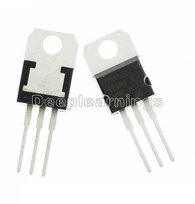 50pcs Tip120 120 Npn Darlington Transistors To-220 New