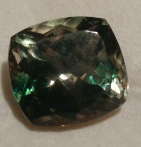 Natural TOP Blue-Green Dichroic Oregon Sunstone 4.90 ct Cushion