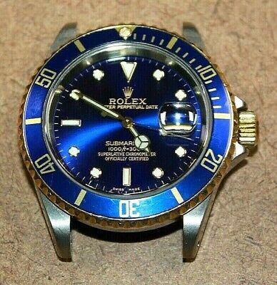 Rolex Submariner Perpetual Date SS/18k Gold Men's Blue Dial Watch 16613 [040WEI]