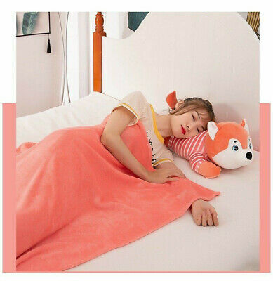 Plushy Soft Stuffed Shiba Inu Dog with Matching  Color Blanket