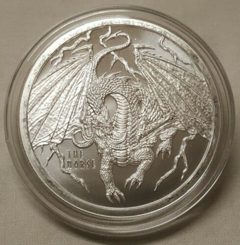 1oz Norse Dragon .999 Fine Silver Round 4th Coin in World of Dragon Series
