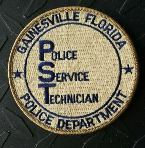 OLD GAINESVILLE FLORIDA POLICE PST POLICE SERVICE TECHNICIAN PATCH UNUSED