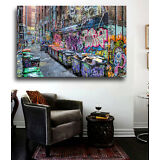 Five Pointz NYC Graffiti Street Art 24 x 20 (canvas) - Banksy, Brainwash