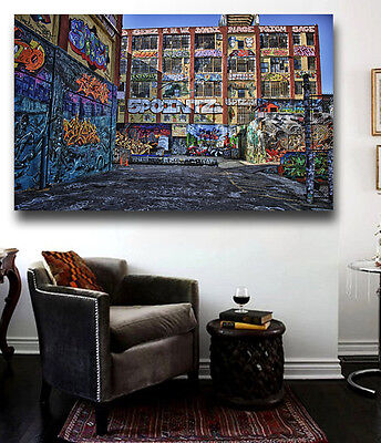 (Five Pointz NYC Graffiti Canvas Poster Print Wall Art 36 x 24 Five Pointz NYC)