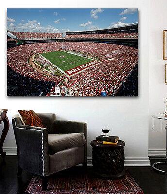 Alabama Crimson Tide Bryant Denny FOOTBALL Stadium Game Canvas Print 36 x 24 Alabama Bryant Denny Stadium