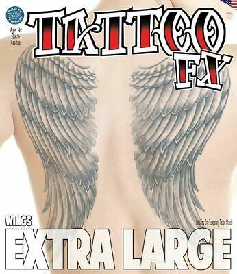 Angel Makeup Halloween (Tinsley Transfers Extra Large Temporary Tattoo - Wings Horror Halloween Make)